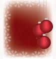 christmas balls with a snowflake frame vector image vector image