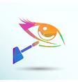Closeup concealer stick under-eye circles facial vector image vector image