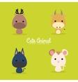 Cute Cartoon Wild Animal vector image vector image