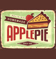 delicious homemade apple pie retro promotional adv vector image