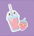 delicious tasty cartoon vector image vector image
