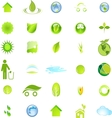 Ecology and Environment Icon Set In Format vector image vector image