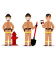 fireman cartoon character vector image