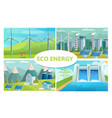 flat eco energy concept vector image
