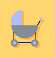 flat icon design collection baby carriage vector image