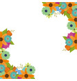 flowers border decoration vector image