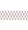 folk flowers seamless seamless border vector image