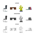 furniture and work icon vector image vector image