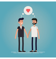 Gay male couple vector image