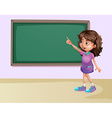 Girl in classroom vector image vector image