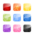 Glossy blank buttons in color variations vector image vector image