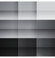 Gray and black squares abstract background vector image vector image