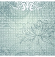 Grungy light blue background with flower vector image