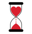 hourglass with a heart time love a timer vector image vector image