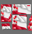 indonesian patriotic festive banners set vector image vector image