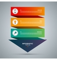 Infographic concept template with 3 steps vector image vector image