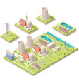 Isometric nuclear power facility vector image