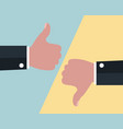 like and dislike gesture business positive and vector image