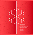 merry christmas background in linear minimalistic vector image vector image