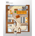 modern studio apartment top view vector image