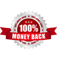 money back red button vector image
