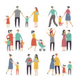 mother father and children vector image vector image