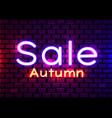 neon sign word sale on dark background vector image