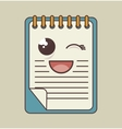 notebook character isolated icon design vector image vector image