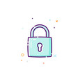 padlock icon thin line flat design icon concept vector image
