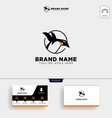 penguins logo template and business card vector image vector image