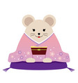 personified rat dressed in japanese kimono vector image vector image