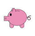 piggy savings symbol vector image vector image