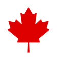 red leaf canada on white background canada flag vector image vector image