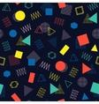 Retro memphis geometric line shapes seamless vector image vector image