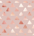 rose gold abstract background with triangles vector image vector image