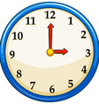 Rounc clock with red needles vector image