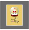 santa claus in christmas ball happy holiday vector image