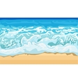 Sea wave and sand beach vector image