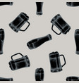 seamless pattern with hand drawn stylized mug of vector image