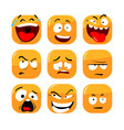 set face expression isolated icons vector image vector image