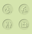 set icons for wc bathroom vector image vector image