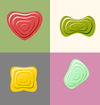 Set logos of plastic forms Heart icon logo logo vector image vector image
