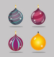 set merry christmas decoration desing to vector image vector image