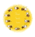 Set with cute cartoon bees vector image vector image