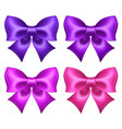 silk ultra violet and pink bows vector image