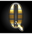 silver and golden figure q vector image vector image