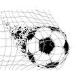 soccer ba vector image vector image