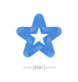 star with Somalia flag colors and symbols vector image