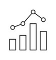 statistics graph line icon on white background vector image vector image
