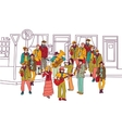 Street musicians doodles ink orchestra band vector image vector image